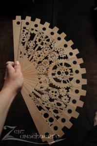 Handmade Steampunk Fan by Zeitunschaerfe