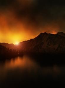 Sunset by Otto Hütter
