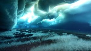 Underwater icecrystals