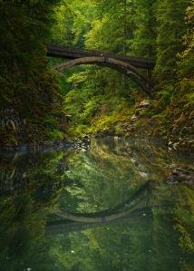 Moulton Falls Bridge by Greg Stokesbury