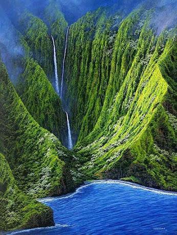 Pu'uka'oku Falls by Mohit Nagpal