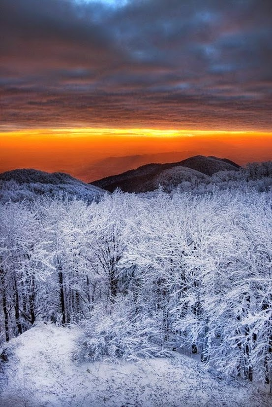 Winter sunset from Sue Lim