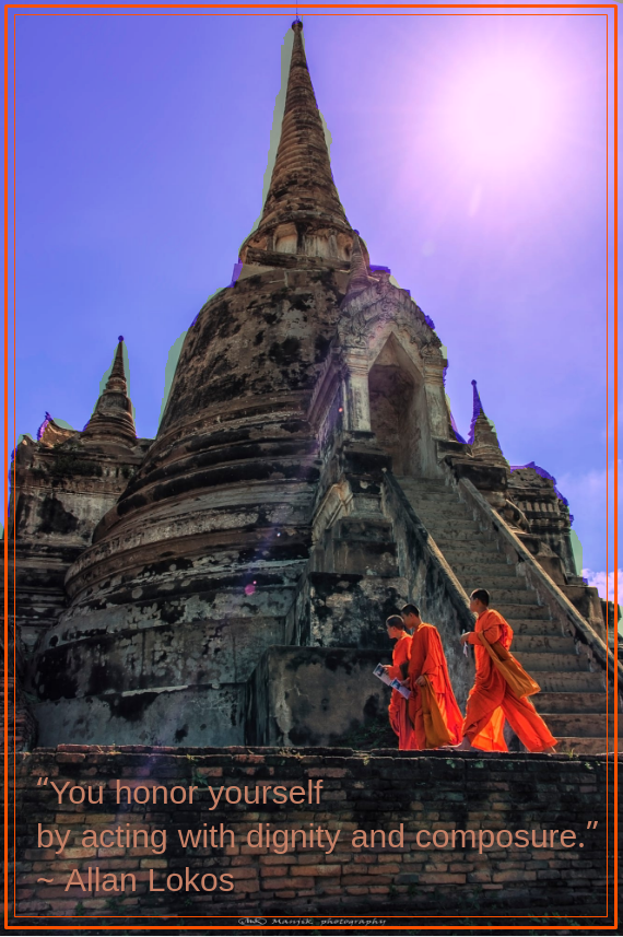 Ayutthaya monks by Manjik photography